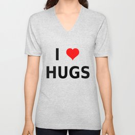 I LOVE HUGS Unisex V-Neck