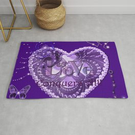 Love Conquers All - Purple Rug
