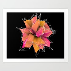 3d polygons  Art Print