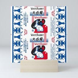 White Rabbit Creamy Candy Mini Art Print