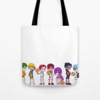 kuroko Tote Bags featuring Kuroko no Basket by Jackce