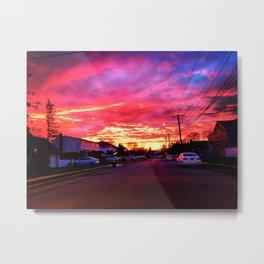 Neighborhood Sunset Metal Print