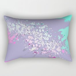 Abstract Splatter Print in Lilacs, pinks and purples Rectangular Pillow