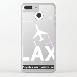 Grey LAX airport Clear iPhone Case