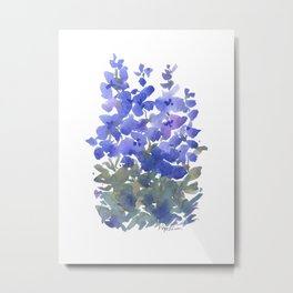 Beautiful Blue Delphiniums Metal Print