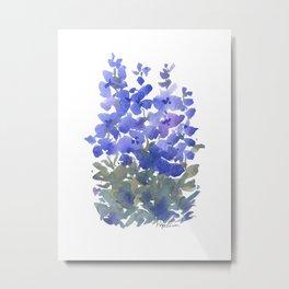 Beautiful Blue Delphiniums Metal Print