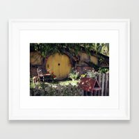 hobbit Framed Art Prints featuring The Hobbit by Cynthia del Rio