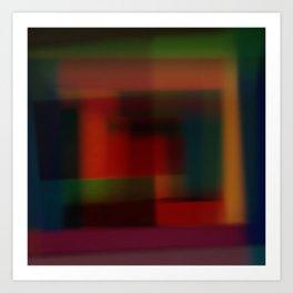 Blured squares Art Print