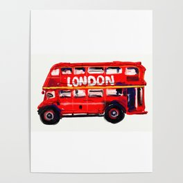 London Bus Side Poster