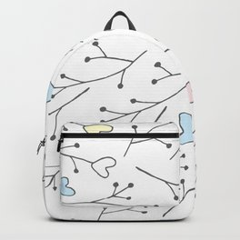 Cute Hearts & Tree Branches Backpack