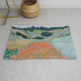 Poppy Field in a Hollow near Giverny Claude Monet Rug