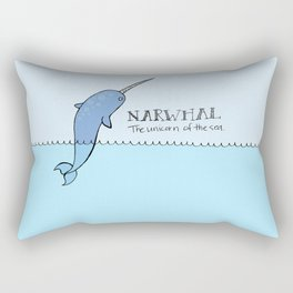 Narwhal (Unicorn of the Sea) Rectangular Pillow