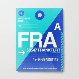 FRA Frankfurt Luggage Tag 1 Metal Print
