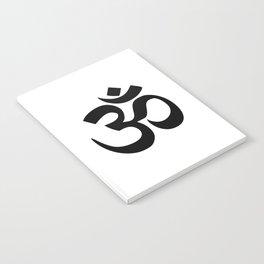 Minimal Black & White Om Symbol Notebook