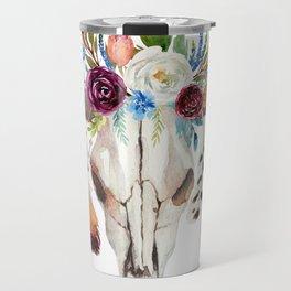 Dreamcatcher skull feathers & flowers Travel Mug