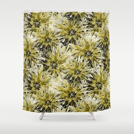 Dahlias in swamp and white Shower Curtain