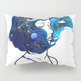 blowing  universe mind. Pillow Sham