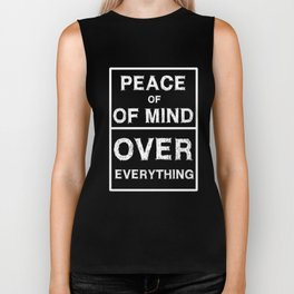 Spread the Love with this Peace of mind Tshirt Design OVER EVERYTHING Biker Tank