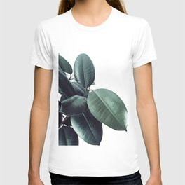 Ficus Elastica #18 #White #foliage #decor #art #society6 T-shirt