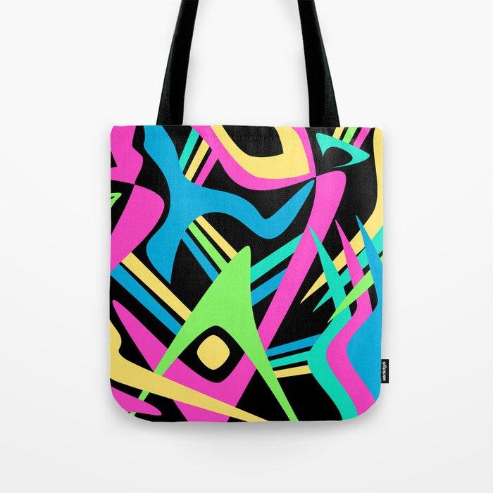 Neon Puff Tote Bag