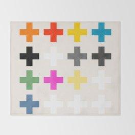 Crosses II Throw Blanket