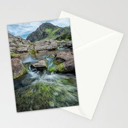 Tryfan Mountain Stream  Stationery Cards