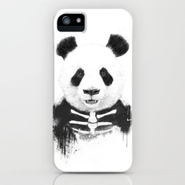 Zombie panda iPhone Case
