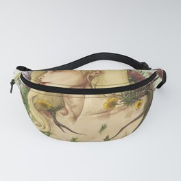 "Watercolor Painting of Picture ""Profile Woman"" Fanny Pack"