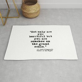 Somehow on the Grand Scale ― Fitzgerald quote Rug
