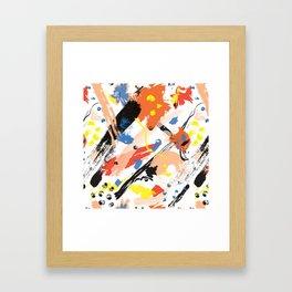 Abstract Floral Splash Framed Art Print