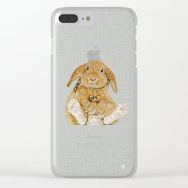 Swirly Bunny Clear iPhone Case