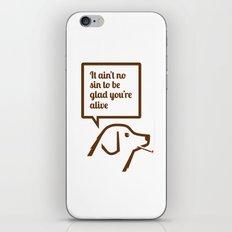 SMOKING DOG iPhone & iPod Skin
