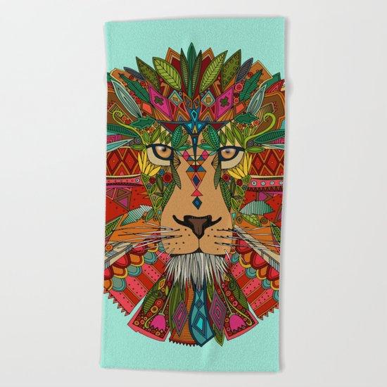 lion mint Beach Towel