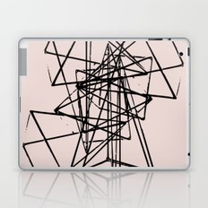 Abstract space construction in pink Laptop & iPad Skin