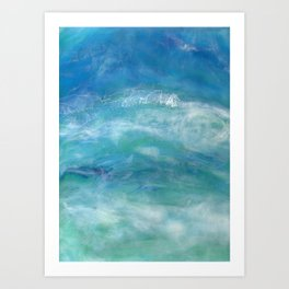 Sea Splash Abstract Acrylic Art Print