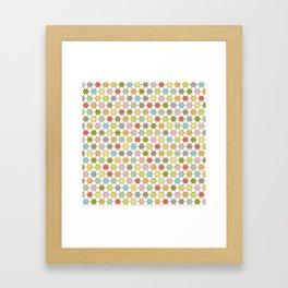 Hexagon Tile Pattern Framed Art Print
