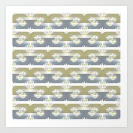 Mix of formal and modern with anemones and stripes 1 Art Print