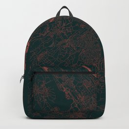 Basel Map Red Backpack
