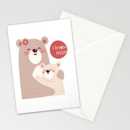 Mutual snatched bear mother and child Stationery Cards