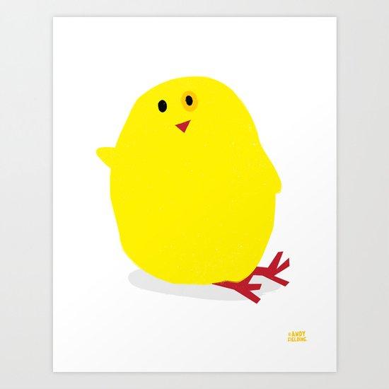 Cute Fluffy Yellow Baby Chick Art Print