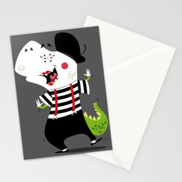 T-Rex Mime Stationery Cards