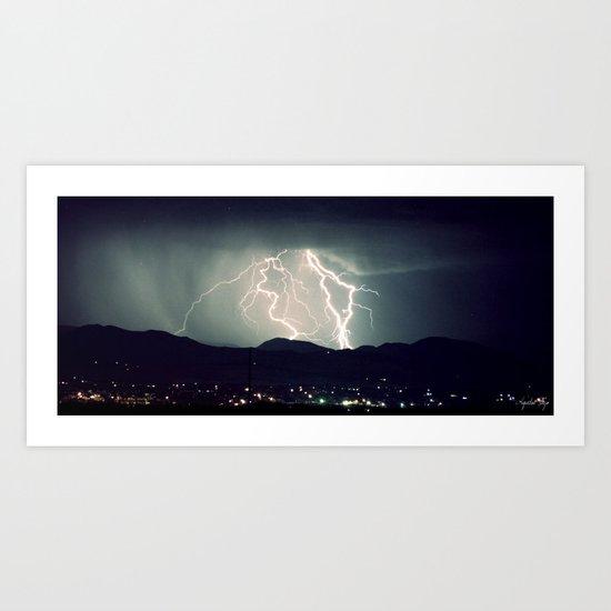 Over the Mountain II  Art Print