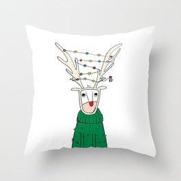 Reinbo Lights, The Reindeer Throw Pillow