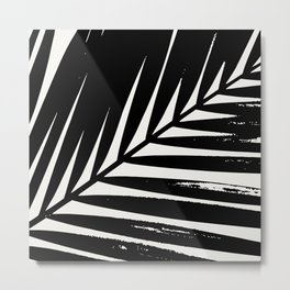 Palm Leaf Silhouette Metal Print