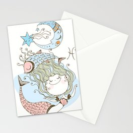 Mermaid Dreams Under the Sea Stationery Cards