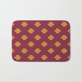 Eternity knot, endless knot pattern Bath Mat
