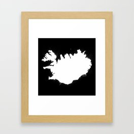 Iceland W&B Framed Art Print