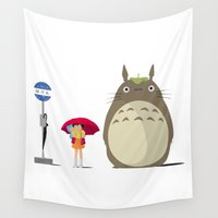 ghibli Wall Tapestries featuring Studio Ghibli by adovemore