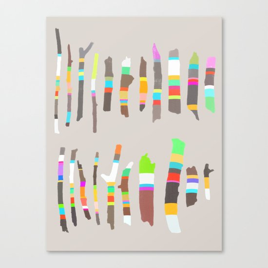 Painted Twigs 2 Canvas Print