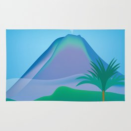 Costa Rica - Skyline Illustration by Loose Petals Rug